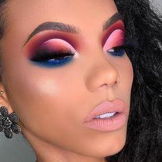 Ce make-up on adore ? Vous voulez également achevez un beau make-up co. Makeup Eye Looks, Blue Eye Makeup, Eye Makeup Tips, Skin Makeup, Eyeshadow Makeup, Eyebrow Makeup, Eyeshadows, Cut Crease Eyeshadow, Bright Eyeshadow