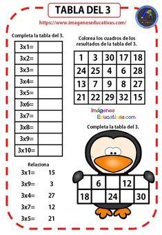 Mi Cuadernillo de las tablas de multiplicar - Imagenes Educativas Spanish Teaching Resources, Teaching Math, Math Games, Learning Activities, Multiplication Worksheets, Math School, Math Numbers, Math For Kids, Math Lessons