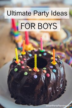 Find easy party ideas for boys. Planning your son's birthday party will be a breeze with these awesome ideas. Inspire yourself for the perfect party for a toddler or a teenager. Sons Birthday, Boy Birthday Parties, Cake Pops, Hot Wheels Birthday, Party Themes For Boys, Party Food And Drinks, Pastel, Happy Birthday Images, Cakes For Boys