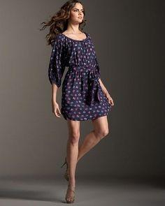 REBECCA TAYLOR NEW 100% Silk Navy Floral Sweet Pea Tie Waist Dress Size 2 Runs L #RebeccaTaylor #BeltedShirtDressBlouson #Casual