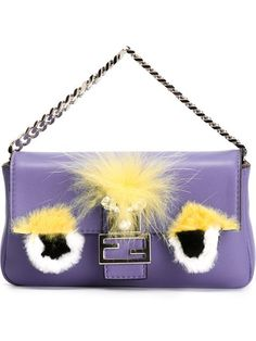 Shop Fendi micro 'Baguette' crossbody bag in Stefania Mode from the Trapani, Italy.