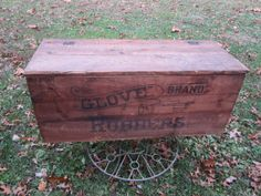 Your place to buy and sell all things handmade, - Wood Crates Shipping Wooden Crate Coffee Table, Crate Desk, Crate Bench, Crate Table, Wooden Wine Boxes, Crate Furniture, Furniture Vintage, Shipping Crate Homes, Wooden Shipping Crates