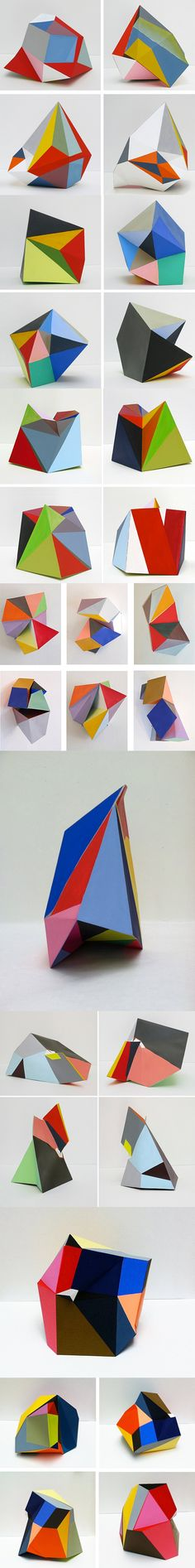 Paper sculptures by Lisa Hamilton.    via BOOOOOOOOM  www.booooooom.com/2011/10/14/paper-sculptures-by-artist-lisa-hamilton/