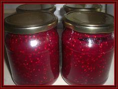 Kouzelná vařečka: Malinová marmeláda Sweet Recipes, Salsa, Mason Jars, Smoothie, Homemade, Canning, Fruit, Food, Lemon