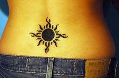Tribal Lower Back Tattoo Design For Women - http://tattooideastrend.com/tribal-lower-back-tattoo-design-for-women/ -