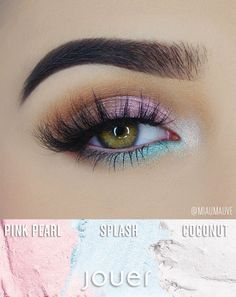 The Mermaid Iridescent Eyeshadow Palette by Jouer Cosmetics includes 4 gorgeous, shimmering shades perfect for a pop of color on any look.