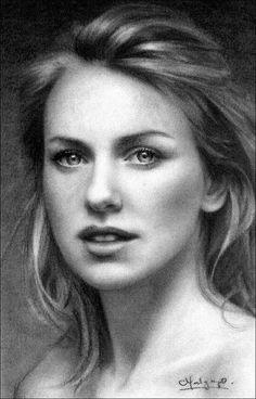 Pencil portrait. Wow.