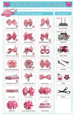 Hair bow tutorials (pin to view) @ DIY Home Ideas.i LOVE making bows!Hair bow tutorials (pin to view) @ DIY Home Ideas Walters Walters Hebert I am sure you've seen thsi but just in case you haven't*I have so much ribbon I could use to make bows for my nie Easy Hair Bows, Kids Hair Bows, White Hair Bows, Ribbon Hair Bows, Making Hair Bows, Girls Bows, Infant Hair Bows, Dog Hair Bows, Bow Making