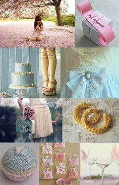Pastel Blue, Yellow, and Pink Wedding Inspiration
