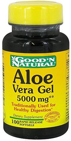 Good N Natural  Aloe Vera Gel  100 Softgels *** Click image for more details.