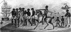 An abolitionist print shows a group of slaves in chains being sold by a trader on horseback to another dealer. Capitol with the American flag is in the distance. Courtesy of the Library of Congress African American Studies, American History, American Flag, Reparations For Slavery, Public Domain Clip Art, Virtual Field Trips, Library Of Congress, American Revolution, Africa