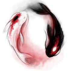 Tui (推) and La (拉), the Moon and Ocean Spirits. From Avatar: The Last Airbender Carpe Koi Tattoo, Koi Fish Tattoo, Fish Tattoos, Tatoos, Tattoo Drawings, Body Art Tattoos, Cool Tattoos, Geniale Tattoos, Legend Of Korra