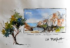 "BB-Aquarelle: Dans mon carnet ""maison"" / In my ""home"" sketchbook"
