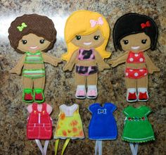 In The Hoop Dress Up BFF Girl Doll Embroidery Machine Design Set on Etsy, $8.99