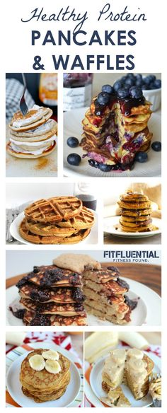 Healthy Pancakes and Waffles Recipes packed with Protein