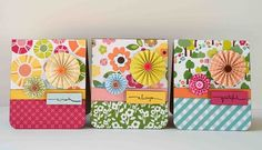 use some of these folded flowers on the frint of a card