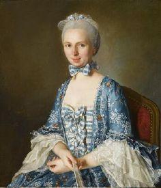 Antoine Vestier French, 1740-1824, Portrait of a Lady, 1763, Oil on canvas, 78.7 x 67.9 cm, Norton Simon Art Foundation Foundation