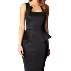 made2envy-Bodycon-Midi-Peplum-Dress-with-Square-Neckline-L-Black-0
