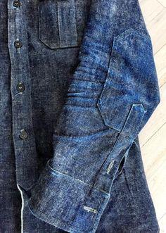 Mens Fashion Rugged – The World of Mens Fashion Denim Jacket Men, Denim Shirt, Denim Jeans, Men Shorts, Denim Jackets, Indigo, Estilo Denim, Style Masculin, Masculine Style