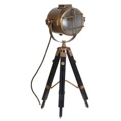 Please Pimp My Pad - The Online Home Furniture Boutique - 'Lighthouse' Tripod Floor Lamp, £149.00 (http://www.pleasepimpmypad.com/all/lighthouse-tripod-floor-lamp/)