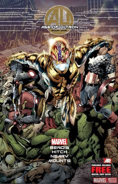 Get ready for your first look at the explosive first issue of AGE OF ULTRON #1, coming this March from the creative team of Brian Michael Bendis and Bryan Hitch! Get all the details here! Which Marvel hero is capable of stopping Ultron?    http://marvel.com/news/story/19975/sneak_peek_age_of_ultron_1