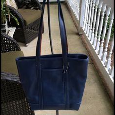 Coach Tote purseFinal Price Selling a used Coach Tote purse. Color is like a denim blue. Has some wear. A few scratches  and some wear on corners. Priced accordingly for this reason. Clean inside and out. I can moisturize it before sending out. Has 3 pockets inside. Coach Bags Totes