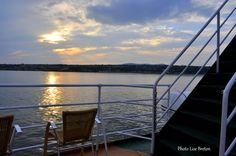 Le soleil se couche sur le fleuve Saint-Laurent