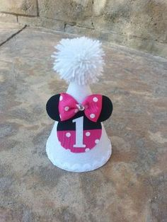Minnie Mouse 1st Birthday hat by eGBgifts on Etsy, $14.99 by penny