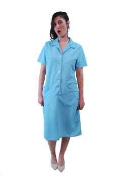 A personal favorite from my Etsy shop https://www.etsy.com/il-en/listing/270772898/light-blue-vintage-dress-for-women-1960s