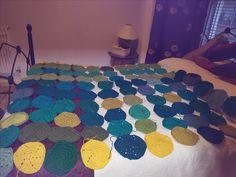Solid hexagon blanket WIP