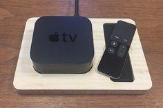Handmade Bamboo Docking Station for New Apple TV