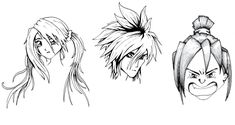 Learn How To Draw Manga Characters Manga Drawing Tutorials, Drawing Techniques, Art Tutorials, Manga Hair, Manga Eyes, Drawing Skills, Figure Drawing, How To Draw Weapons, Singing Drawing