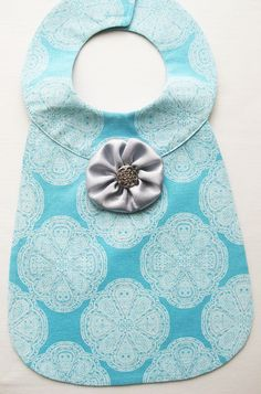 Baby Bib for Baby Girl - Bella. $12.50, via Etsy. I want to make this!