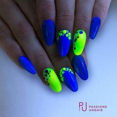 Neon Nail Designs, Fingernail Designs, Gel Nail Art, Sparkly Nails, Fancy Nails, Nail Swag, Get Nails, Dope Nails, Gorgeous Nails