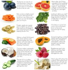 12 Foods For Healthy Skin: Having skin problems? Before you hit the doctor or the cosmetic counter, try to fix your skin ailments with food! Give your body what it needs, and the results will blow your mind. Incorporating these 12 yummy foods into your diet will have you well one your way to healthy & beautiful skin... many of thes can be added to your herbalife shake