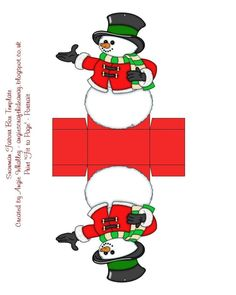 Snowman Favor Box Template Click On The Image To Go To The Website