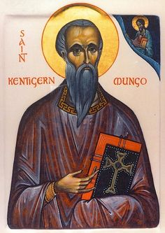 Icon of St. Kentigern (Mungo), Bishop in Scotland Feast: Jan. 13 This icon appears to be by the hand of Aidan Hart, UK.