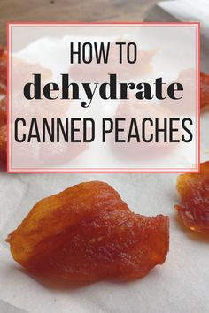 Can you dehydrate canned peaches? You bet you can! So healthy. SO tasty! Dehydrated Vegetables, Dehydrated Food, Canning Food Preservation, Preserving Food, Canning Recipes, Jar Recipes, Freezer Recipes, Drink Recipes, Canned Food Storage