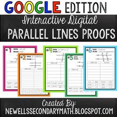 FREE Google Interactive Digital Activity over Parallel Lines and Transversals