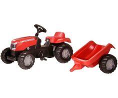 Modelos P (2 a 5 años) >Tractor de pedales MASSEY FERGUSON con remolque  #momamini #juguetes #niños #tractor #tractorpedales #masseyferguson