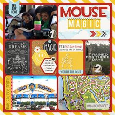 Project Life / Project Mouse Disney Album created by Bee Tree Studios featuring Project Mouse by Sahlin Studio & Britt-ish Designs