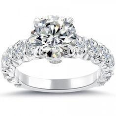 3.84 Carat F-VS2 Certified Natural Round Diamond Engagement Ring Set In Platinum - Liori Exclusive Engagement Rings - Engagement - Lioridiamonds.com