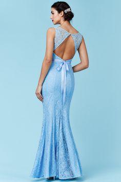 Světle modré šaty Lace Queen  | Botovo.cz