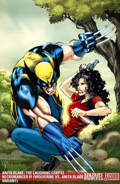 talk about a crossover event: Anita Blake vs Wolverine