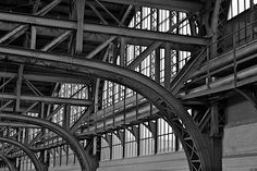 Hamburg main station - steel construction