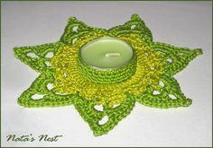 Natas Nest: Crocheted Tealight Stars - Gehäkelte Teelicht-Sterne