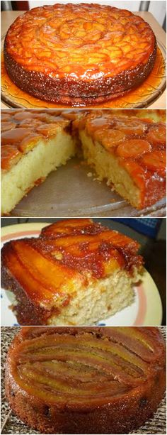 Bolo de Banana Caramelizada com Canela Bolo caramelizaddbanams deBanana Mexican Food Recipes, Sweet Recipes, Cake Recipes, I Love Food, Good Food, Yummy Food, Savory Pastry, Portuguese Recipes, Sweet Cakes