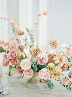 Top 5 Best Wedding Table Centerpieces for the Fine Art Bride shades of peach wedding flowers Wedding Table Settings, Wedding Table Centerpieces, Floral Centerpieces, Floral Arrangements, Wedding Decorations, Flower Centrepieces, Backdrop Wedding, Ceremony Backdrop, Centerpiece Ideas