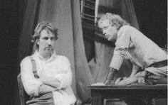Alan Rickman as Achilles, Hilton McRae as Patroclus in RSC's 1985 production of Troilus and Cressida.