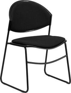 Lowest price online on Flash Furniture Hercules Series 550 lb. Capacity Black Padded Stack Chair with Black Powder Coated Frame Finish Glider Chair, Desk Chair, Conference Room Chairs, Shabby Chic Table And Chairs, Frames For Sale, Office Furniture Stores, Home Theater Seating, Banquet Tables, Ergonomic Chair